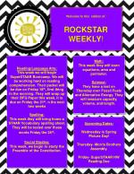 Welcome to this  edition of: ROCKSTAR WEEKLY !