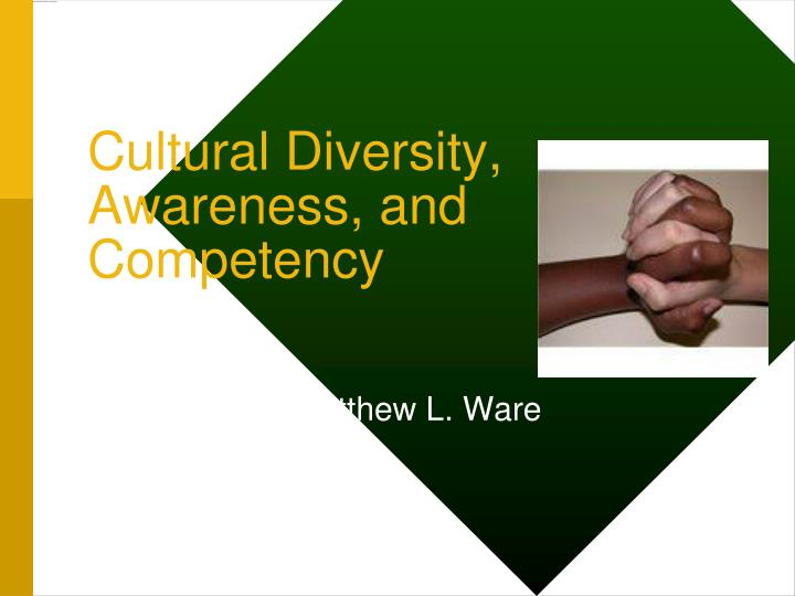 cultural diversity awareness and competency n.