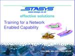 Training for a Network Enabled Capability
