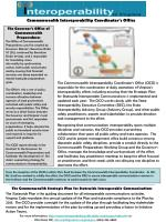 The Commonwealth Strategic Plan for Statewide Interoperable Communications