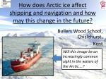 How does Arctic ice affect shipping and navigation and how may this change in the future?