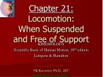 Chapter 21: Locomotion: When Suspended and Free of Support