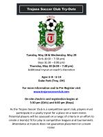 Trojans Soccer  Club  Try-Outs