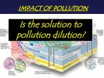 IMPACT OF POLLUTION