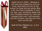 God of Our Fathers vs. 1,2,4	809