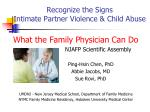Recognize the Signs  Intimate Partner Violence & Child Abuse