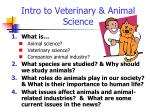 Intro to Veterinary & Animal Science