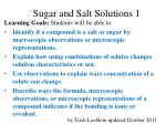 Sugar and Salt Solutions 1