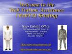 Welcome to the Web Tuition Assistance (WebTA) Briefing