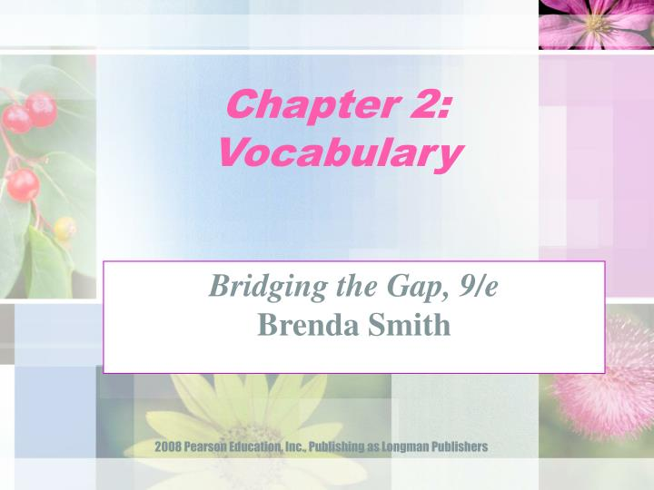 chapter 2 vocabulary n.