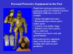 Personal Protective Equipment in the Past
