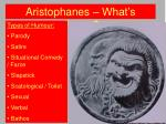 Aristophanes – What's Funny?