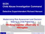 Modernising Risk Assessment and Decision Making in Child Protection
