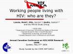Working people living with HIV: who are they?