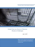 Inmate Fees as a Source of Revenue Review of Challenges