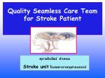 Quality Seamless Care Team for Stroke Patient