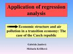 Application of regression analysis