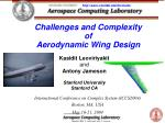 Challenges and Complexity of Aerodynamic Wing Design