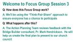 Welcome to Focus Group Session 3