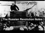 The Russian Revolution Notes