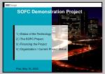 SOFC Demonstration Project