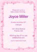 Please join us for a  baby shower honoring...