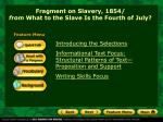 Fragment on Slavery, 1854/ from What to the Slave Is the Fourth of July?