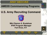 U.S . Army Recruiting  Command MAJ Ramon S. Bradshaw   IPAP Program Manager Fort Knox, KY