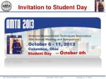 Invitation to Student Day