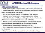 AFMC Desired Outcomes