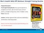 Men's Health: Belly Off! Workout: Strength Training Routine