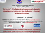 Global Platform for Disaster Risk Reduction Geneva, 22 May, 2013