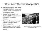 """What Are """"Rhetorical Appeals""""?"""