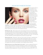 Face Care Tips to Increase Your Face Value