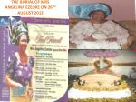 THE BURIAL OF MRS ANGELINA EZEOKE ON 26 TH AUGUST 2012