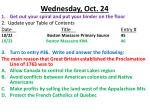 Wednesday, Oct. 24