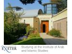 Studying at the Institute of Arab and Islamic Studies