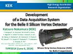 Development of a Data Acquisition System for the Belle II Silicon Vertex Detector