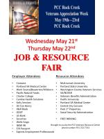 Wednesday May 21 st Thursday May 22 nd JOB & RESOURCE FAIR
