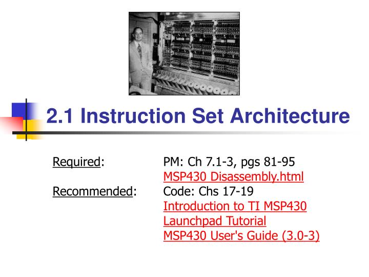 2 1 instruction set architecture n.
