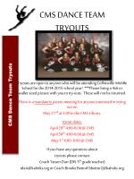 CMS DANCE  TEAM TRYOUTS