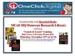 In partnership with Recorded Books MCoE HQ Donovan Research Library will host