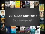 2015 Abe Nominees