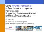 Patient Safety Learning Networks (PSLN) Project Overview (2011-13)