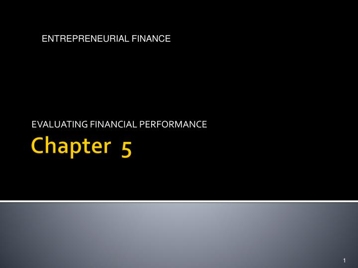 evaluating financial performance n.
