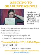 APPLYING TO Graduate SCHOOL?