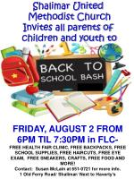 Shalimar United Methodist Church Invites all parents of children and youth to