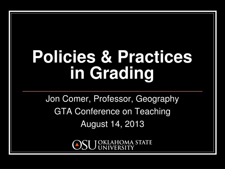 policies practices in grading n.