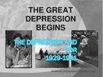 The Depression and FDR 1929-1941