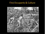 First Occupants & Culture